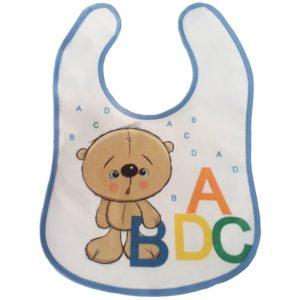 Babador Impermeável Ursinho ABC com Velcro – Ref. 134 – linha Bia Baby